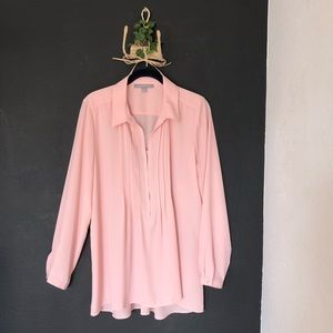 NY Collection Pink Maternity Blouse - M